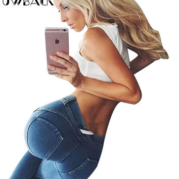Uwback Freddy Pants Women 2017 New Brand Freddy Jeans Mujer Sexy Skinny Strench Denim Black Pencil Pants Woman TB1331