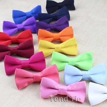 Colorful Matt Classic Baby Kid Bowties Boy/Girl Children Tuxedo Bowties Pet Dog Cat Necktie Butterfly