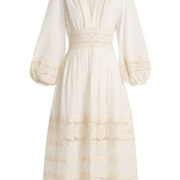 Prima polka-dot embroidered cotton dress | Zimmermann | MATCHESFASHION.COM UK