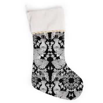 "DLKG Design ""Versailles Black"" Christmas Stocking"