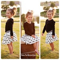 Bow Tie Skirt Set