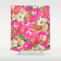 CUSTOM Shower Curtain,Choose Colors/Fonts/Tag,Add Monogram/Name,Hot Pink,Bathroom Decor,Bathroom Art,Standard Size/XL,Printed in USA