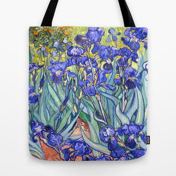 Vincent Van Gogh Irises  Tote Bag by Art Gallery