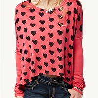Heart Boxy Crop Top