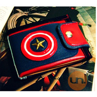 "Vegan Wallet, Captain America, Avengers, Cool Wallet with Coin Pocket, Card Holder UNUSUAL ""Superhero Collection"" - Handmade Custom Order"