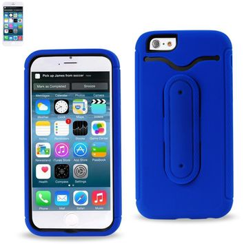 REIKO IPHONE 6 HYBRID HEAVY DUTY CASE WITH BENDING KICKSTAND IN NAVY