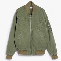John Elliott / Paneled Flight Jacket