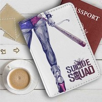 Suicide Squad Harley Quinns Art Leather Passport Wallet Case Cover