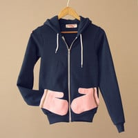 Toasty: Air Hoodie with Mittens - Shop Azaleas NYC in the East Village