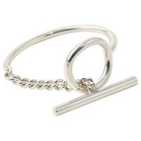 Hermes Croisette Sterling Silver Toggle Cuff Bracelet
