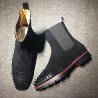 Christian Louboutin CL Boots Style #2098 Sneakers Fashion Shoes Best Deal Online