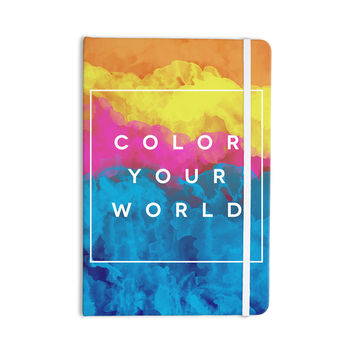 """Galaxy Eyes """"Color Your World"""" Rainbow Paint Everything Notebook"""