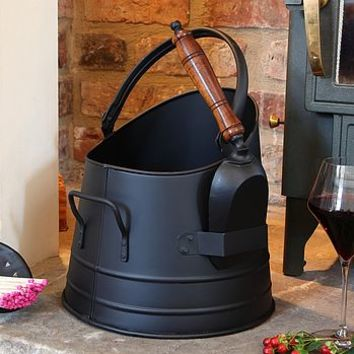 French Coal Bucket And Free Fireside Matches