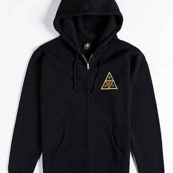 OBEY X HUF Icon Face Zip-Up Hoodie Sweatshirt