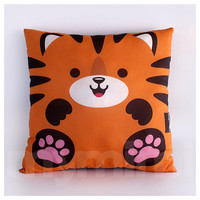 Decorative Pillow, Tiger Animal Pillow, Stuffed Animal, Room Decor, Kids Room Decor, Children's Pillow, Kids Toys, Orange Pillow, 16 x 16""