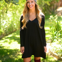 Long Sleeve Piko - Black