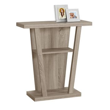 "Accent Table - 32""L, Dark Taupe Hall Console"