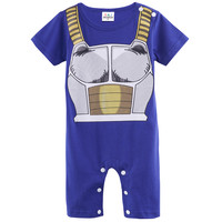 Baby Boys Romper Dragon Ball Z Costume Vegeta Infant Onesuit Size 0-24M