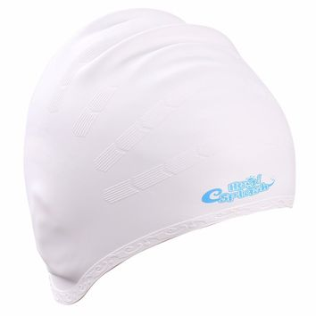 Swim Cap,Ear Wrap Waterproof Silicone Swimming Cap for Adults Women and Men,High Elasticity, Non-Toxic,Non-Slip,Keeps Hair Clean