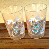 WALT DISNEY 25TH Anniversary Glass Tumbler Donald Duck