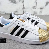 """Adidas Superstar "" Unisex Casual Classic Fashion Plating Multicolor Shell Head Plate Shoes Couple Sneakers Small White Shoes"