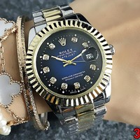 Rolex Fashionable Woman Men Cool Diamond Quartz Watch Couple Movement Wristwatch