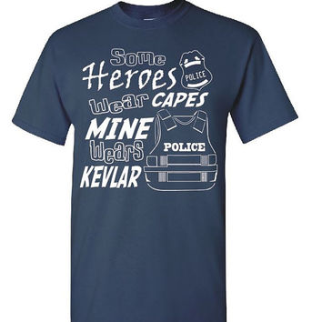Police Hero Shirt Officer Gift Police Dad Gift Police Mom Shirt Police Badge Police Vest Cop Gifts Police Wife Shirt Kevlar Vest 5000