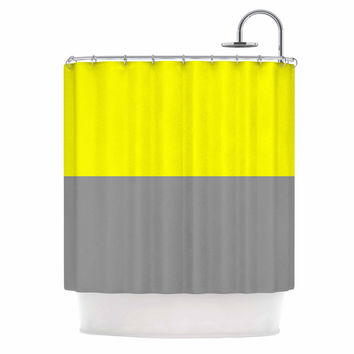 "Trebam ""Polovina V.5"" Yellow Gray Shower Curtain"