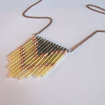 70's Inspired Gold Chevron Necklace