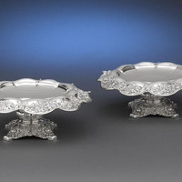 Tiffany & Co. Silver Chrysanthemum Compotes