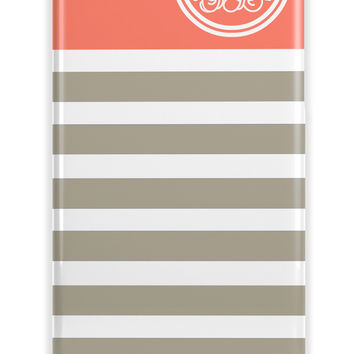 CUTE NAUTICAL STRIPES AND COLOR - PRETTY PERSONALIZABLE IPHONE CASE FOR GIRLS