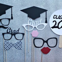 Graduation Photo Booth Prop Set  -   Photobooth Props Commencement, Class of 2014, Senior
