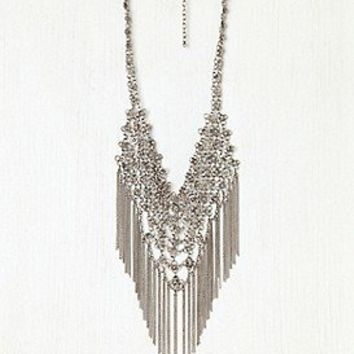 Floral Chain Mail Fringe Necklace at Free People Clothing Boutique