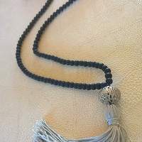 long tassel necklace , handmade , women's gifts ,  gift card , necklace , necklaces