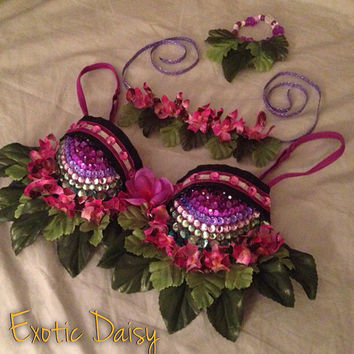 Jungle goddess rave bra