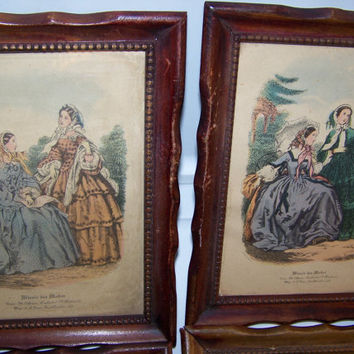 Vintage french fashion prints miroir des from antiquesatlanta for Miroir des modes value