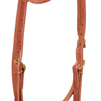 Weaver Leather Western Headstall Sliding Ear in Russett Brass 10-0129