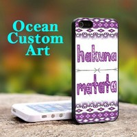 Hakuna Matata chevron - Print on Hard Cover iPhone 5 Black Case