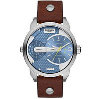 Diesel Stainless Steel and Leather 3-Hand Watch