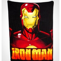 Iron Man Face Fleece Blanket