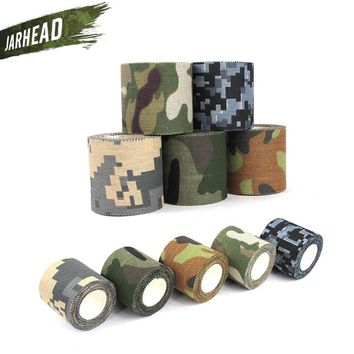 Jungle Camo Wrap 5 Roll Stretch Bandage Camping Hunting Camouflage Elastic Tape for Gun Cloths Bike straps Durable