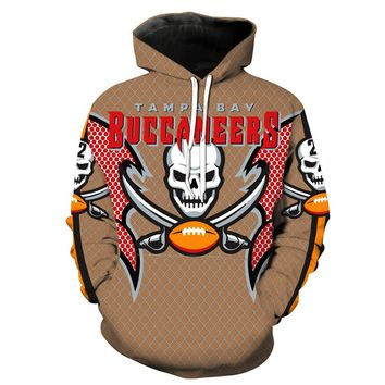 Tampa Bay Buccaneers 3D Printing Hoodies With Hat Street Autumn Fashion Casual Hip Hop Clothing Hoodie Pullover Hoodie Clothing