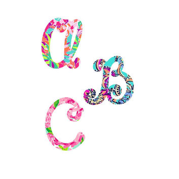 Single Initial Lilly Pulitzer Monogram Decal | Swell Decal |   Lilly Pulitzer Decal | Lilly car decal | Lilly Pulitzer Yeti Sticker |