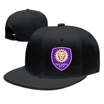 Orlando City Logo - Major League Soccer Printing Unisex Adult Womens Fitted Hats Mens Hip-hop Cap