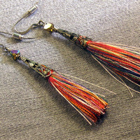 Tassel Earrings, Gypsy Earrings, Boho Earrings, Bohemian Jewelry