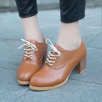 Ankle Oxford Leather Casual Shoes Short Boots