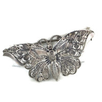 Holiday Sale Alice Caviness Sterling Silver Filigree Butterfly Brooch Germany