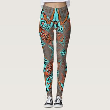 Fractal Butterfly Star of Future Leggings
