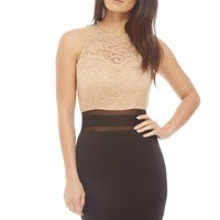 Lace Top Bodycon Dress