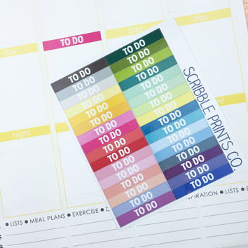 32 CUSTOM Colorful M/D/N Section Header Labels Die-Cut Stickers // (Perfect for Erin Condren Life Planners)